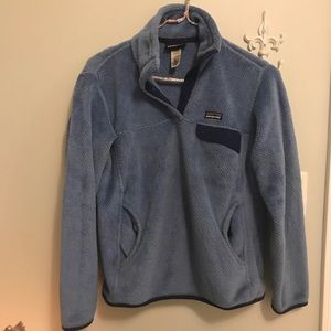 Blue 'Re-Tool' Snap Pullover Patagonia